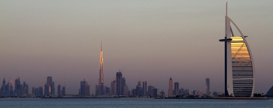 La ville de Dubai en fin de journée - Emirats
