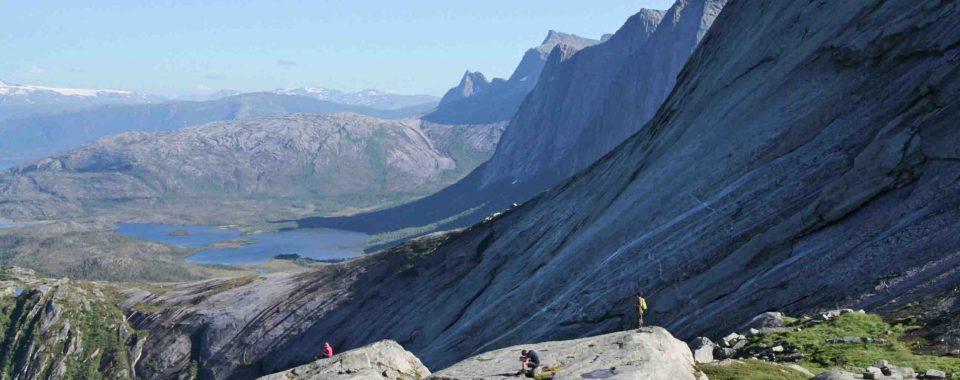 Rando sur les hauteurs de Tysfjord en Norvege